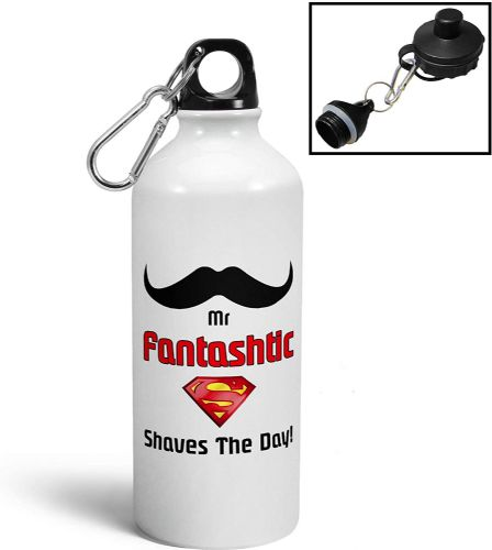 Mr Fantashtic Shaves The Day Funny Aluminium Sports Water Bottle/Canteen